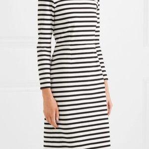 NWT J.Crew CHLOE white and black striped dress 6